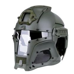 Outdoor Airsoft Casco Airsoft Sport di Sicurezza Tattico Moto Casco Casco Tattico Viso Tactical Mask