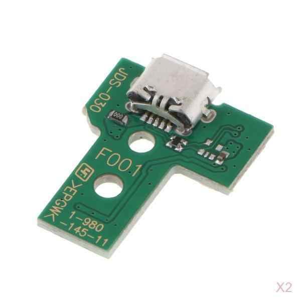 2 шт. 12Pin разъем usb порт для зарядки плата для SONY PS4 беспроводной Dualshock 4 контроллер (JDS-030) беспроводной контроллер