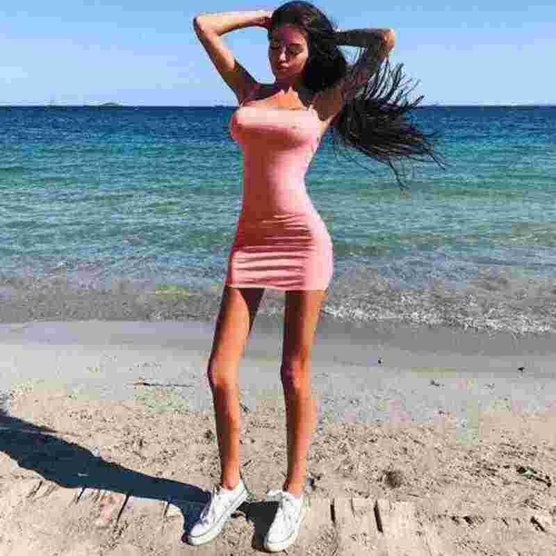 Mini vestido de tubo corto de fiesta de noche Casual ajustado sin mangas con tiras Sexy para mujer a la moda