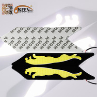 New Exclusive Leopard Design Waterproof Auto COB LED Daytime Running Light DRL Car Styling Diving Lights