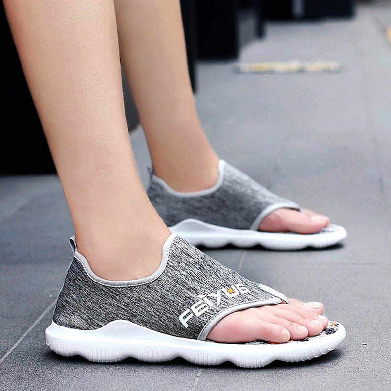 ฤดูร้อน 2019 รองเท้าแตะชายรองเท้าแตะชายรองเท้าคุณภาพสูง Mens Soft Sandalias สบายสบายๆกลางแจ้งสบายๆรองเท้าแตะสไตล์รองเท้าแตะ Hombre