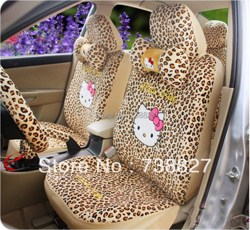 Car Seat Fedex Tnt Price1Set Leopoard Hello Kitty Cover Universal Interior Decoration Chevrolet Wom0020 - ShangHai B&S Automobile Products Store store