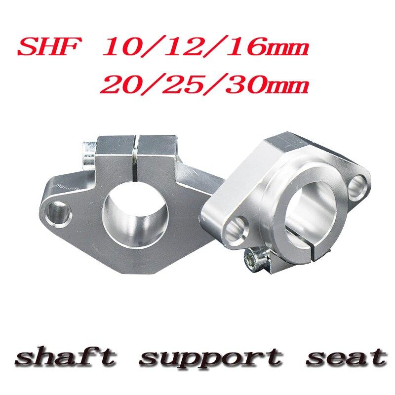 Hot sale 1pc SHF8 SHF10 SHF12 SHF13 SHF16 SHF20 SHF25 SHF30 8mm linear rail shaft support XYZ Table CNC Router 3D printer Part axk shf8 shf10 shf12 shf16 bearing shaft support for 8mm 10mm 12mm 16mm rod round shaft support diy xyz table cnc 3d printer