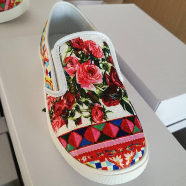 Girls' Floral Cotton Shoes