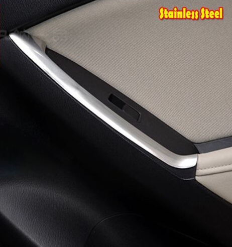 chromed ABS Car inside Rear door handle Trim Armrest Button Cover For Mazda CX-5 CX5 2012 2013 2013 2014 2015 for mazda cx 5 cx5 2017 2018 kf 2nd gen armrest console pad cover cushion support box armrest top mat liner car stickers