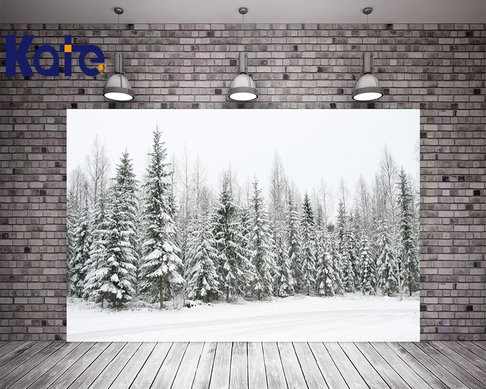 цены Photography Kate Digital Printging Backgrounds Spectacular Cedar Forest Frozen Snow Winter Kate Background Backdrop