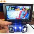 GreenYi TFT LCD a Color de 4.3 Pulgadas Monitor Del Coche Marcha Atrás + 3in1 Sensores en Cámara de Visión Trasera de Ayuda Al Aparcamiento con LEDs