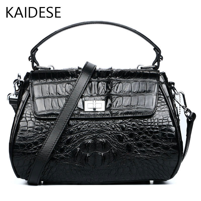KAIDESE 2017 new fashion designer design crocodile bag bag of aristocratic ladies leather handbag with a single shoulder slung yuanyu new 2017 new hot free shipping crocodile women handbag single shoulder bag thailand crocodile leather bag shell package