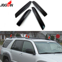 Black For Toyota 4Runner N210 2003 2009 Hilux Surf SW4 ABS Plastic Roof Rack Bar Rail End Replacement Cover Shell 4PCS