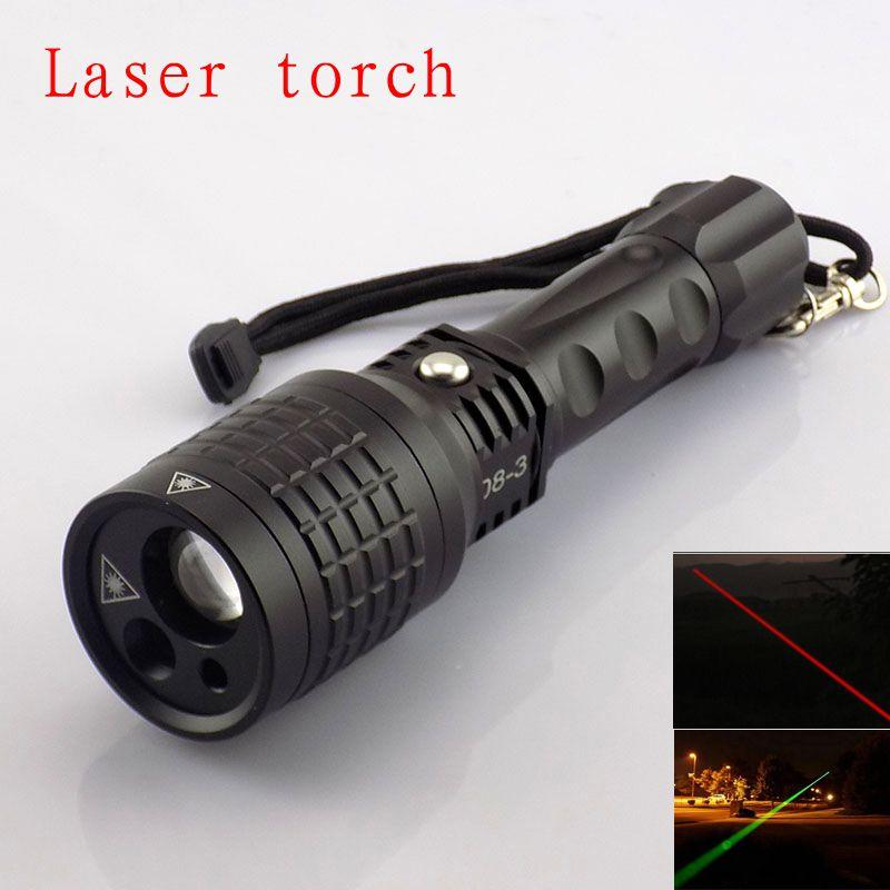 Wysokiej jakości latarka wielofunkcyjna z czerwonym / zielonym kolorem wskaźnika światła laserowego z latarką taktyczną