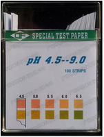 50Bags/Lot a level 0.5 PH Test Paper PH4.5 9.0 100Strips/Bag Universal Test Paper Strips urine and saliva Body acid base balance