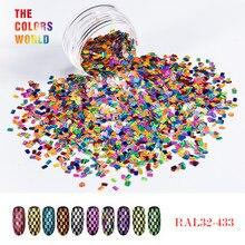TCT-189 Holographic Stripe Glitter Mix Size Shape For Nail