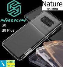 Nillkin природа ясно мягкие tpu protective case cover for samsung galaxy s8 плюс прозрачный силиконовый оболочки
