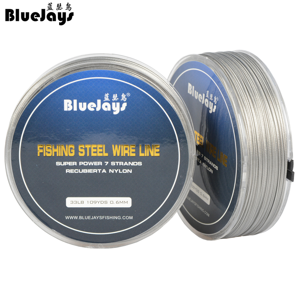 100M Fishing steel wire Fishing lines max power 7 strands super soft wire lines Cover with plastic Waterproof free shipping