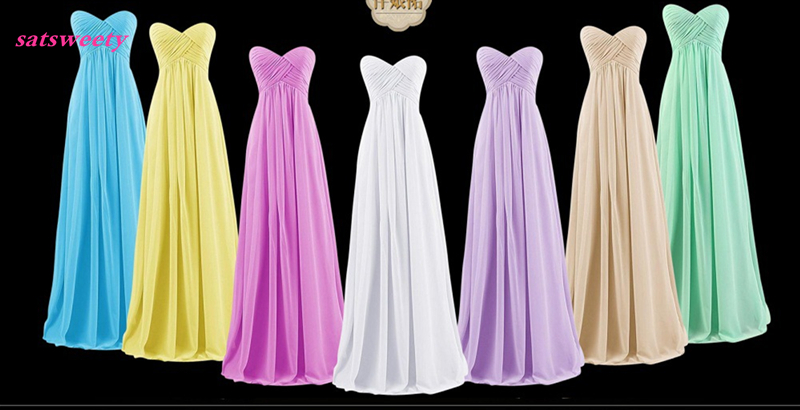 Satsweety Cheap Long Chiffon 20 Colors Bridesmaid Dresses 2019 A-Line Vestido De Festa De Casamen Formal Party Prom Dresses