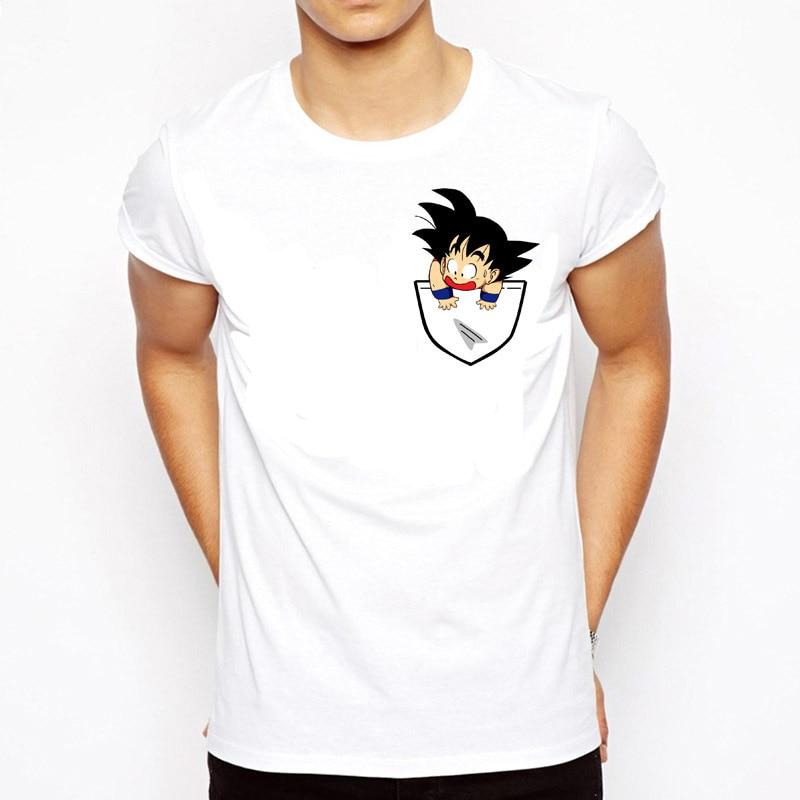 Dragon Ball T-shirt Hommes D'été Dragon Ball Z super fils goku Slim Fit Cosplay 3D T-Shirts vegeta T-shirt Homme