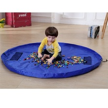 Sac de rangement en nylon imperméable à l'eau Grand organisateur de rangement pour jouets Le tapis de jeu Tapis de jeu Kid jouets pour enfants en bas âge Sacs de rangement divers