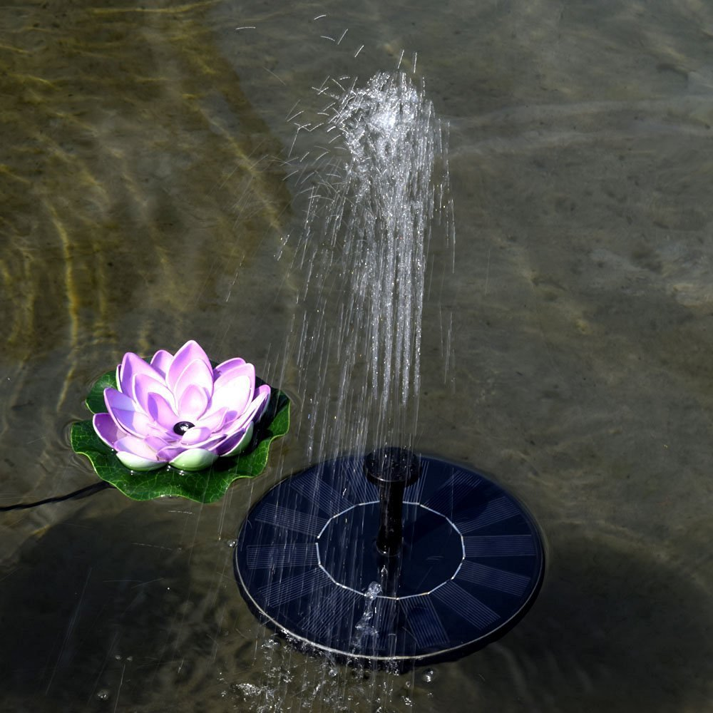 Lucsun 1set 1.4W solar powered pump fountain water submersible pump for garden pond deck. купить