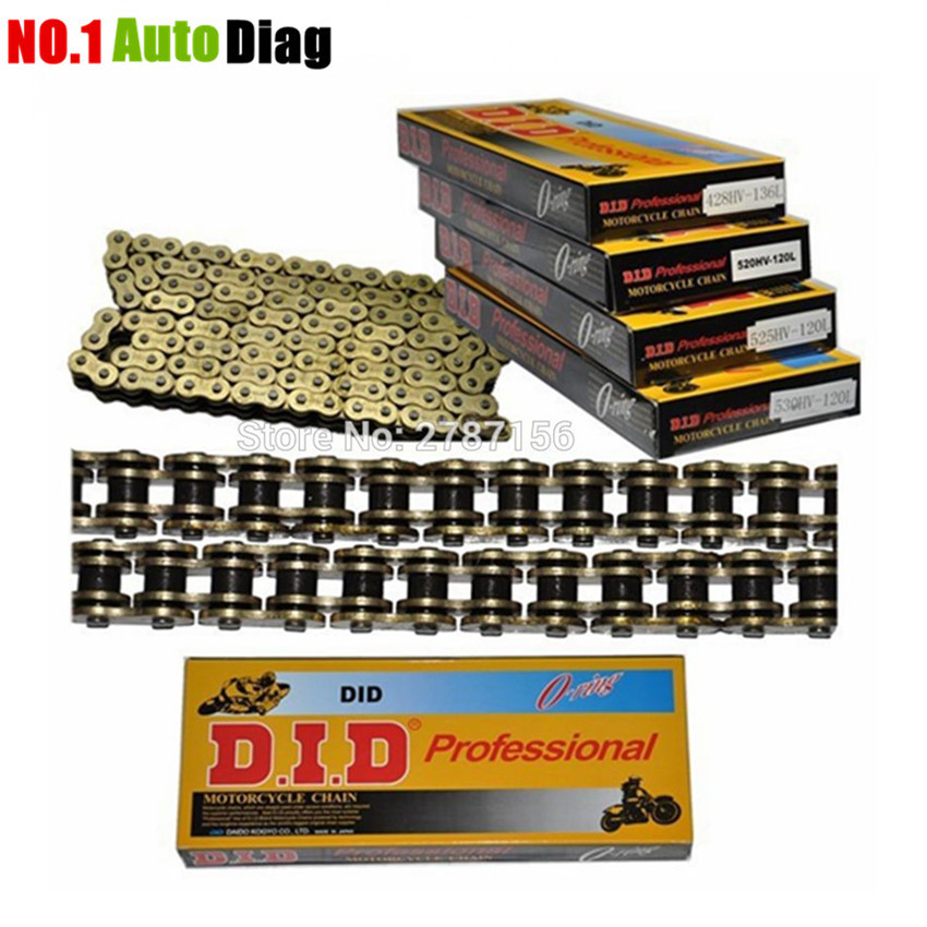 Facotry Selling High Quality Motorcycle Chain Sets For 428 Chain DID O-Ring 136 Link 520 525 530 Chains 120 Links