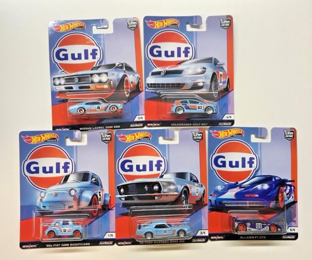 Hot Wheels Car 1:64 Car Culture Gulf FIAT NISSAN VOLKSWAGEN MCLAREN FORD Collector Edition Metal Diecast Model Car Kids Toys