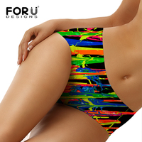 FORUDESIGNS Seamless Panties Women S Plus Size Underwear Briefs Mixed Color Printing Panty Panties Sexy Girls