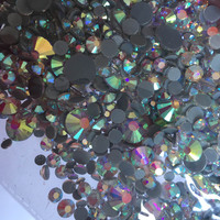 Mixed Sizes AB ColorsFrom SS6 SS30 DMC HotFix Rhinestones Samples Crystals Shiny Iron On Garment Heat