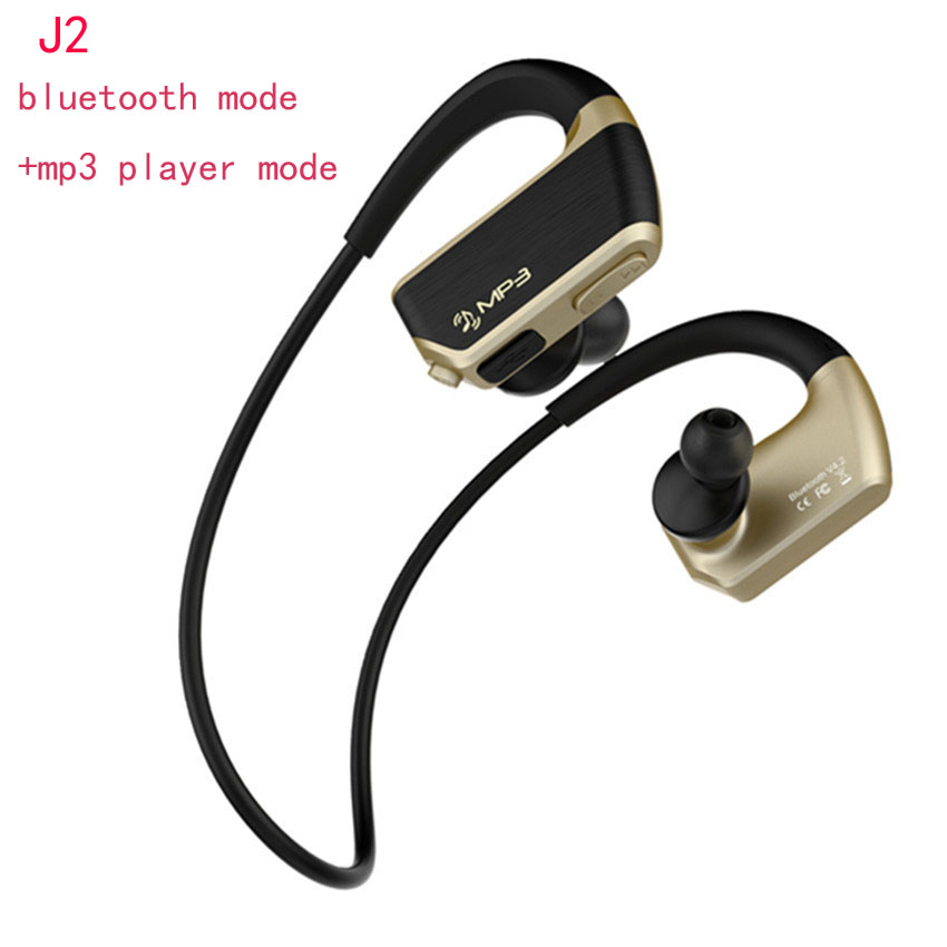 J2 IPX4 Waterproof Mp3 Music Player+Wireless Bluetooth Handsfree Headset with Mic Sports Running Earphone Earbuds for Phone Fone portable waterproof earphone storage box drop resistance protective case for headphone mp3 player headset amp earplugs earbuds