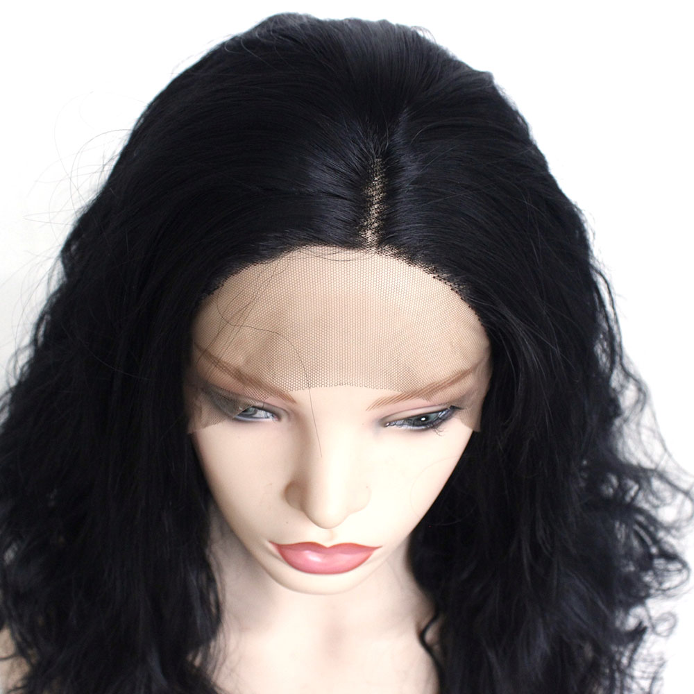 Loose Wave Synthetic Hair Lace Front Wigs with Baby Hair Natural Long Wavy Lace Wigs for Black Women Heat Resistant Fiber-A1g2