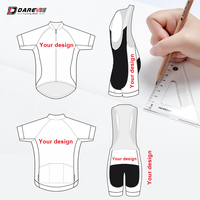 Darevie индивидуальные Велосипеды одежда профессиональные Велосипеды форма свой собственный дизайн велосипед Команда костюмы на заказ Велос
