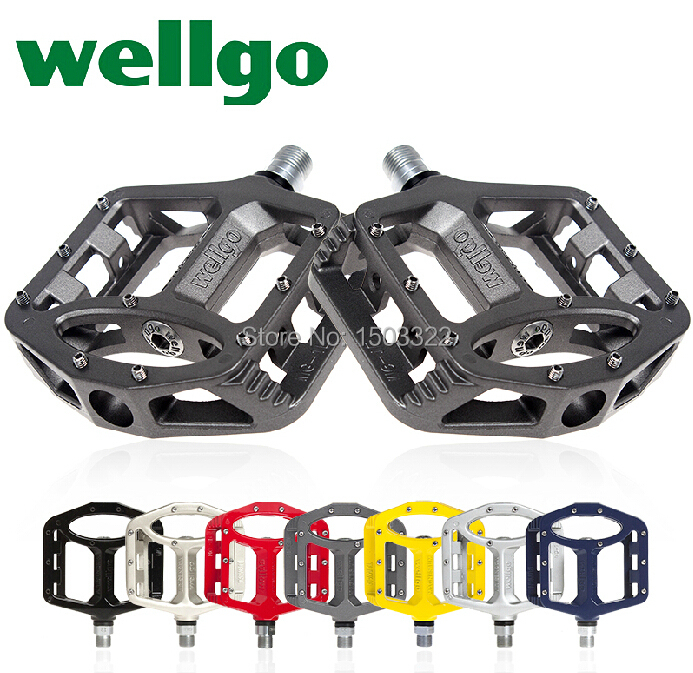 WELLGO Wellgo MG1 MG-1 Magnesium Spindle Axle Mountain BMX mtb Bike Platform Pedals High quality bicycle pedal bike parts