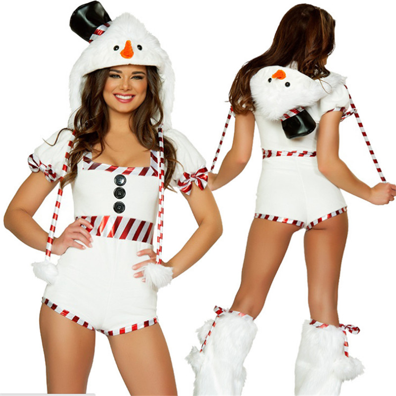 new high quality Sexy Christmas reindeer costumes animal cosplay costumes bells night club DS Pole dance show Xmas Party uniform