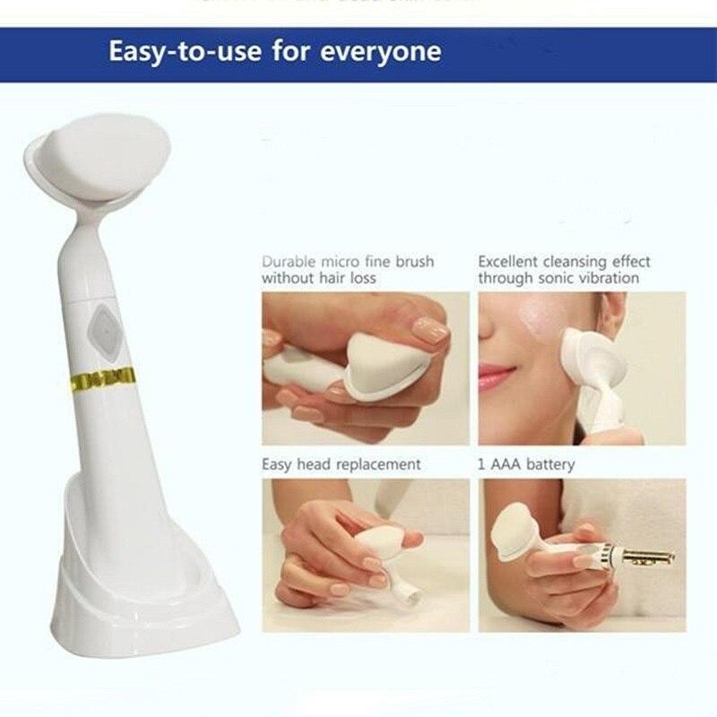 APINKGIRL Listrik Pembersih Wajah Sikat Getaran Wajah Cleaner Mesin - Perawatan kulit - Foto 3