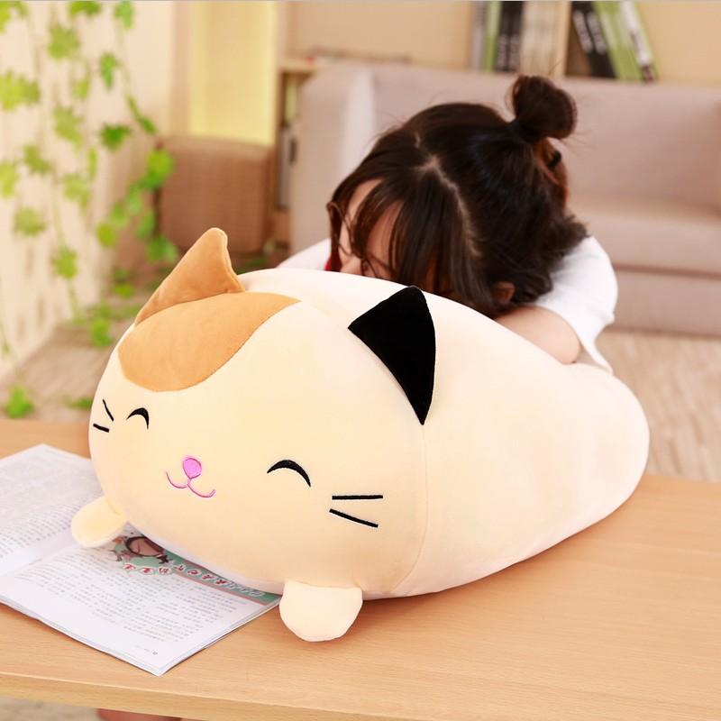 Soft Animal Cartoon Pillow Cushion Cute Fat Dog Cat Totoro Penguin Pig Frog Plush Toy Stuffed Lovely kids Birthyday Gift(China)