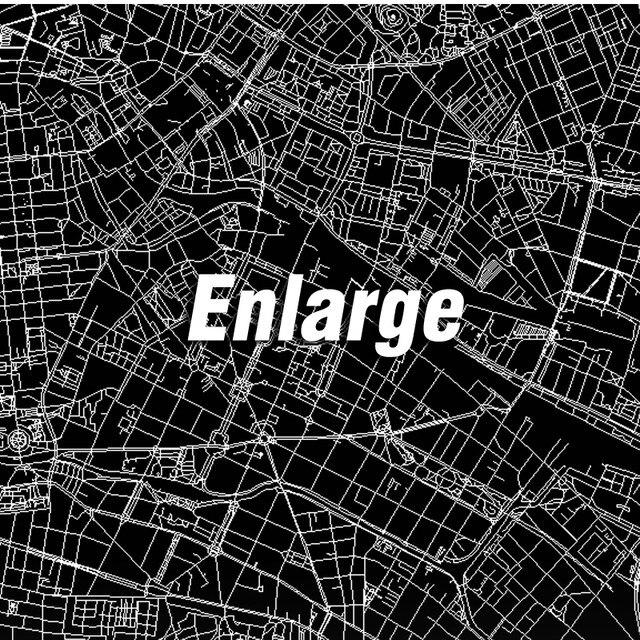 online shop modern map of berlin germany canvas art print poster ...