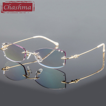 Chashma Brand Womens Frame Degree Eyeglasses Transparent Glasses Women Diamond Tint Lenses oculos de grau feminino