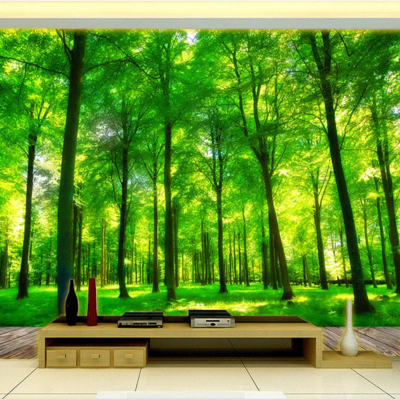3d effect custom photo wallpaper living room bedroom interior walls background wall mural nature landscape forest wallpaper custom green 3d large natural landscape living room tv background wallpaper mural fresh grass mountain animal sheep for walls