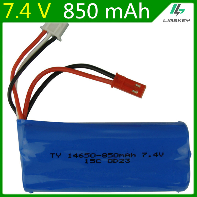 7.4V <font><b>850mAH</b></font> <font><b>Lipo</b></font> Battery For RC TOYS accessories <font><b>lipo</b></font> battery <font><b>2s</b></font> 7.4V <font><b>850mAH</b></font> 14650 SM cylindrical plug 14650 15C image