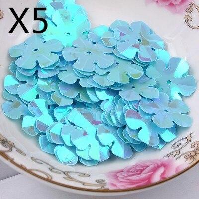 317ee0cd32e9bf 300 SZTUK AB Plated Niebieski Kolor 20mm Kwiat Loose Cekiny Paillette  Szycia Zdobienie Ustalenia DIY Dodatki Krawieckie