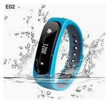 E02 умный браслет bluetooth 4.0 водонепроницаемый спортивные часы анти-потерянный шагомер/sms напоминание браслет для iphone xiaomi redmi pro