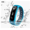 E02 inteligente pulseira bluetooth 4.0 pedômetro à prova d' água relógio do esporte anti-lost/sms lembrete pulseira para iphone xiaomi redmi pro