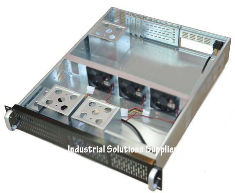 NEW Aluminum drawing panel 2u computer case 2u server computer case 7 hard drive large-panel nvr new industrial computer case 2u server computer case pc power supply length 43