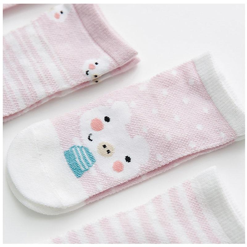 5 Pairs/lot Baby Socks Summer Mesh Breathable Cotton Infant Socks Children Kids Boys Girls Short Sock 0-8 Years 6