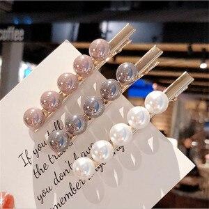 Fashion Women Imitiation Pearl Hair Clip Barrettes for Women Girls Handmade Pearl Flowers Hairpins Hair Accessories