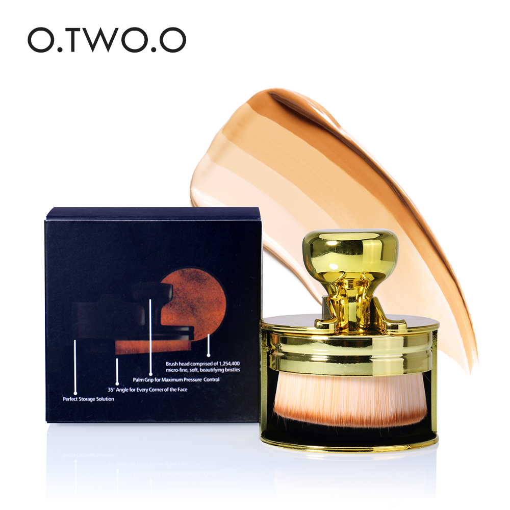 O.TWO.O Makeup 2-Color Brush manual seal cleansing Foundation Brush make-up Brushes Cosmetic Face Powder Brush For Beauty Tool deep face cleansing brush facial cleanser 2 speeds electric face wash machine