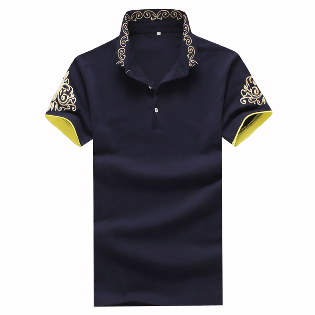 Brand New 2017 Polo Shirt Men Short Sleeve Polos Men's Printed Cotton Polo Shirts Summer Fitness Shirts Homme Plus Size 5XL