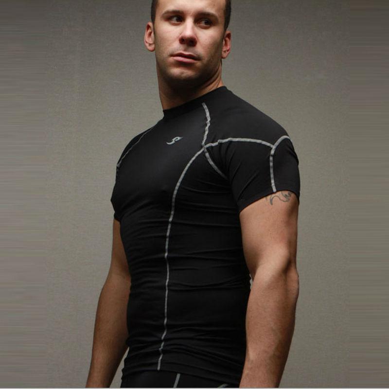 2015 neue Compression Base Layers Mens Casual T-Shirt Kurzhülse - Herrenbekleidung - Foto 5