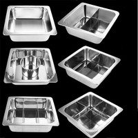 Chinese square stainless steel thickening household square Shabu flavors hot pot chafing dish cooker soup warm pot chafingdish