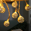 20 Lamp Balls LED String Warm White For Wedding Party Fairy Lights Christmas Garlands Flexible Strip Lighting Strings