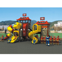 2017 Fire Series Big Play Structure Amusement Park Outdoor Playground For Kids YLW OUT1655