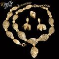 2017 Romantic Nupcial Do Casamento Nigeriano Beads Africanos Conjunto de Jóias Design de Moda Dubai Jóias de Ouro Chapeado Set Traje